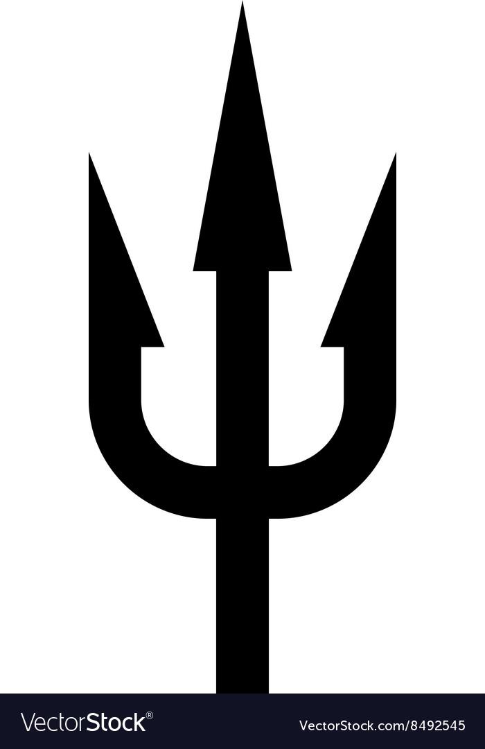 Trident Black Silhouette Sea Neptunus Weapon Image