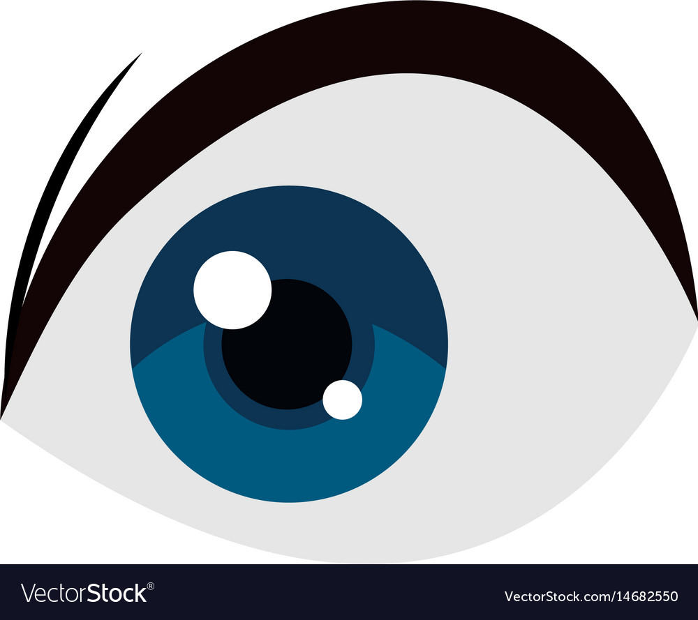 Anime blue eye comic manga image vector image
