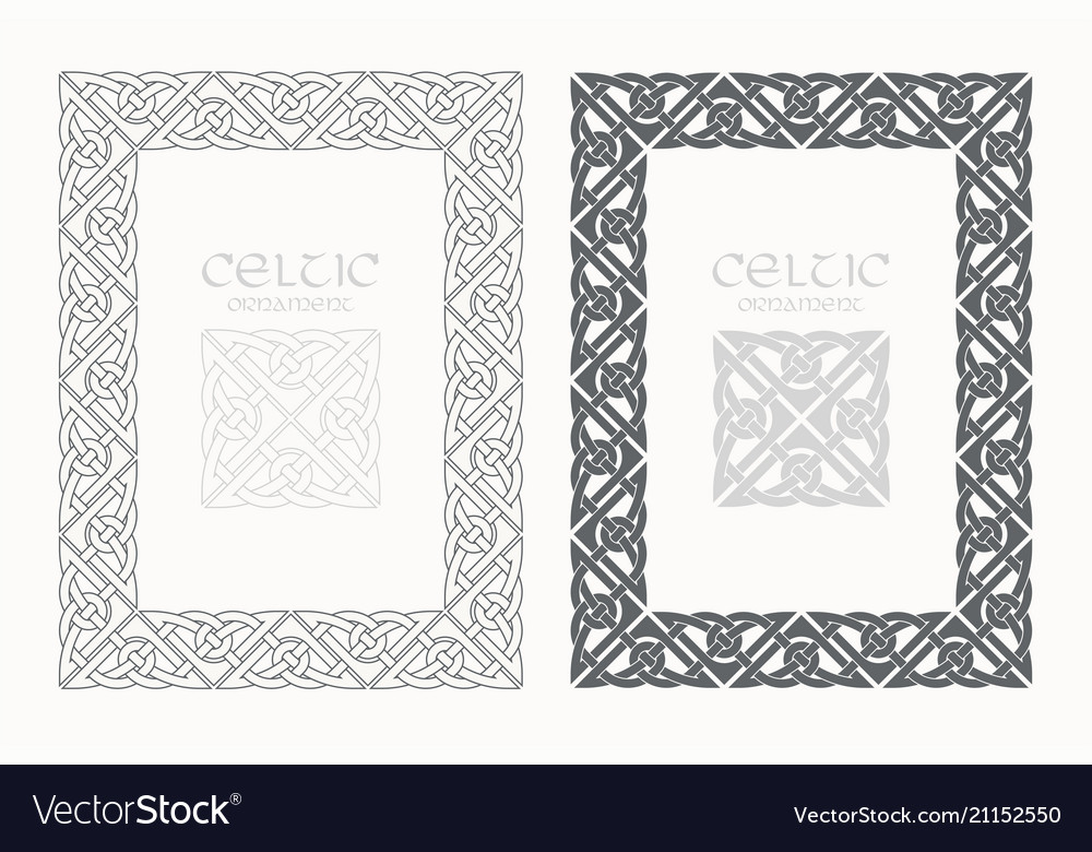 Celtic knot braided frame border ornaments a4 size