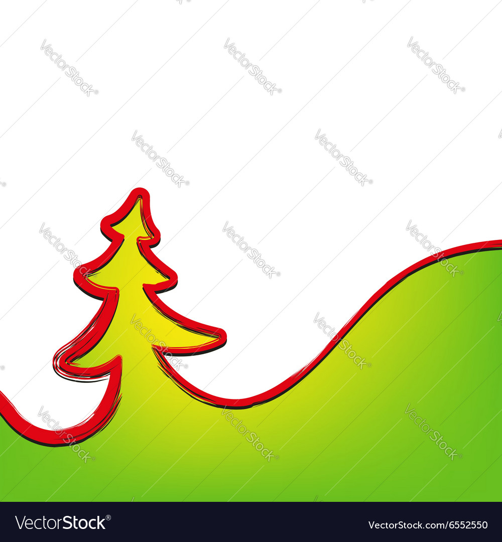 Christmas background christmas-tree strokes symbol