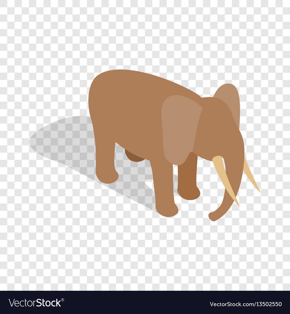 Elephant isometric icon