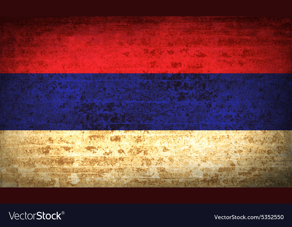 Flags Republika Srpska with dirty paper texture vector image