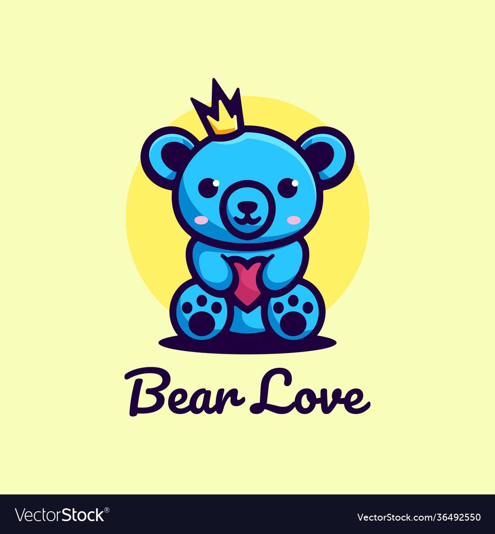 Logo bear simple mascot style