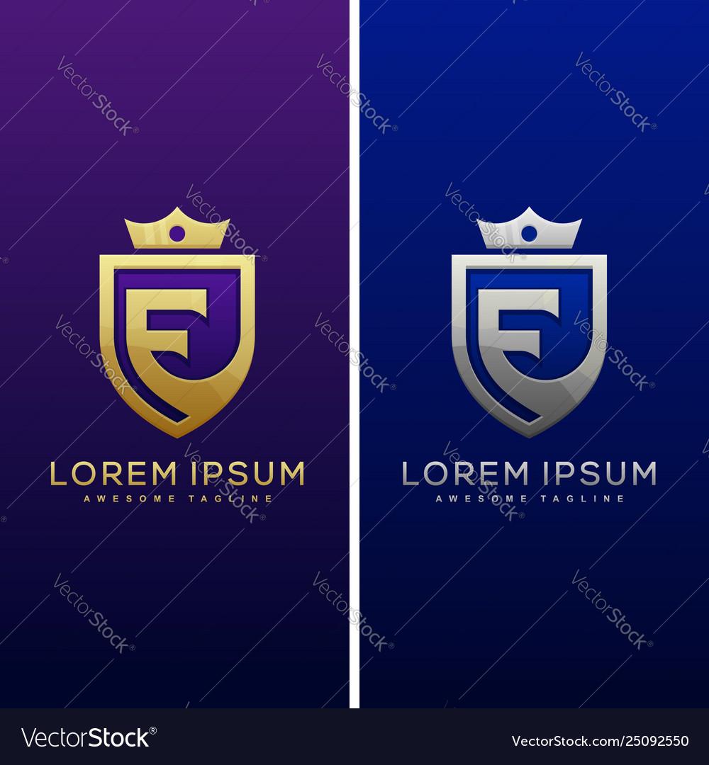 Luxury letter e concept design template