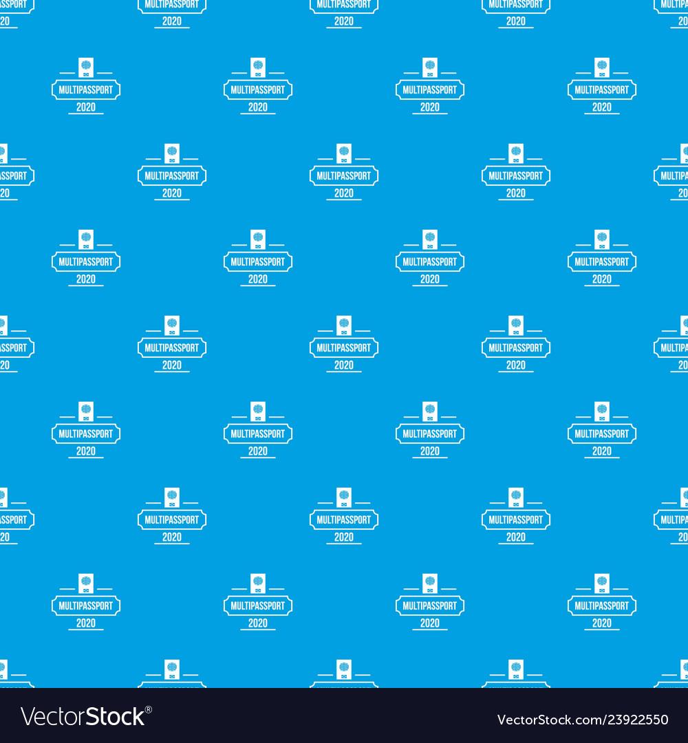 Passport pattern seamless blue