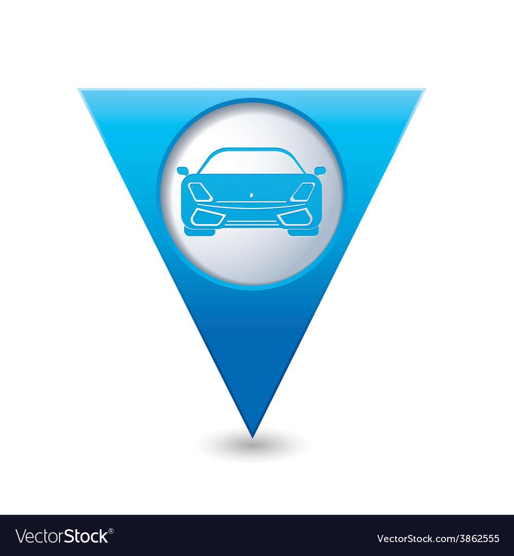 Car BLUE triangular map pointer