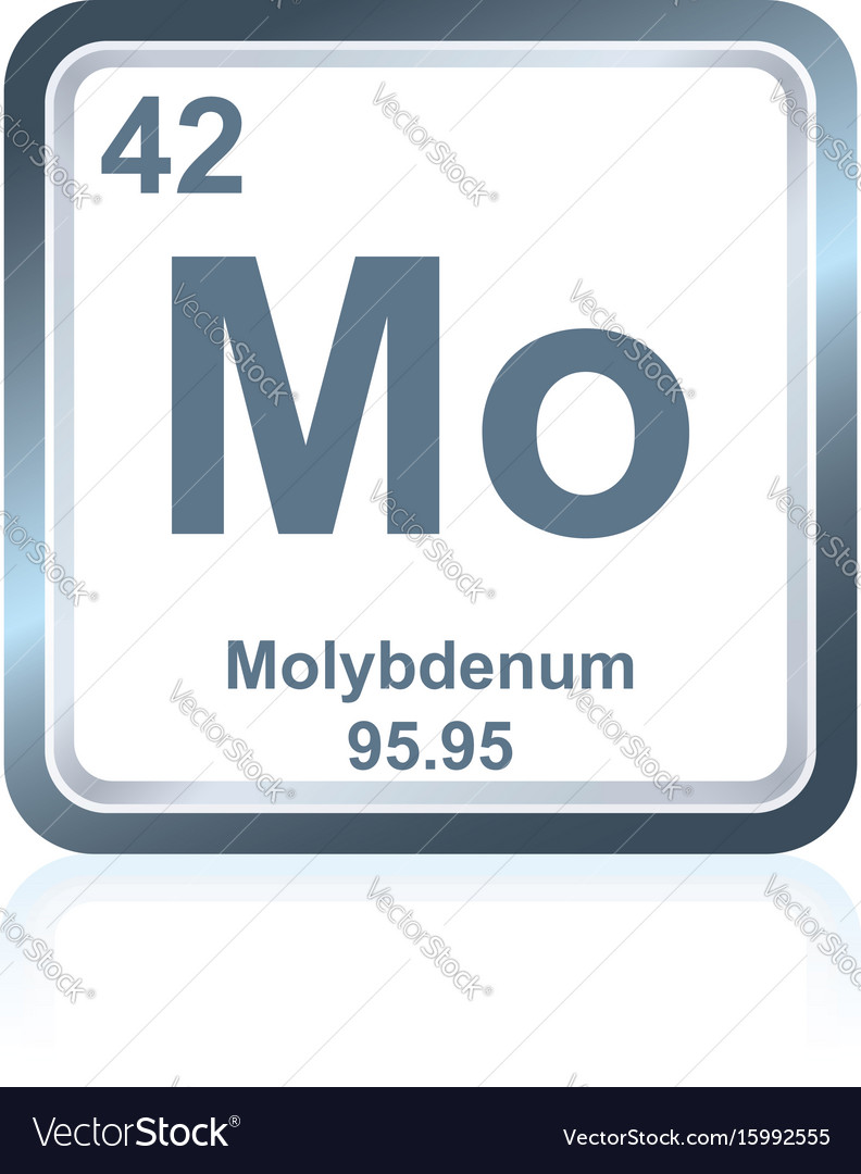 Chemical element molybdenum from periodic table