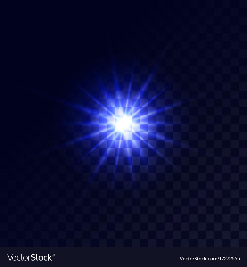 Christmas star glow light effect vector image