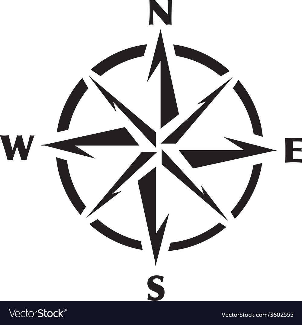compass rose graphic royalty free vector image