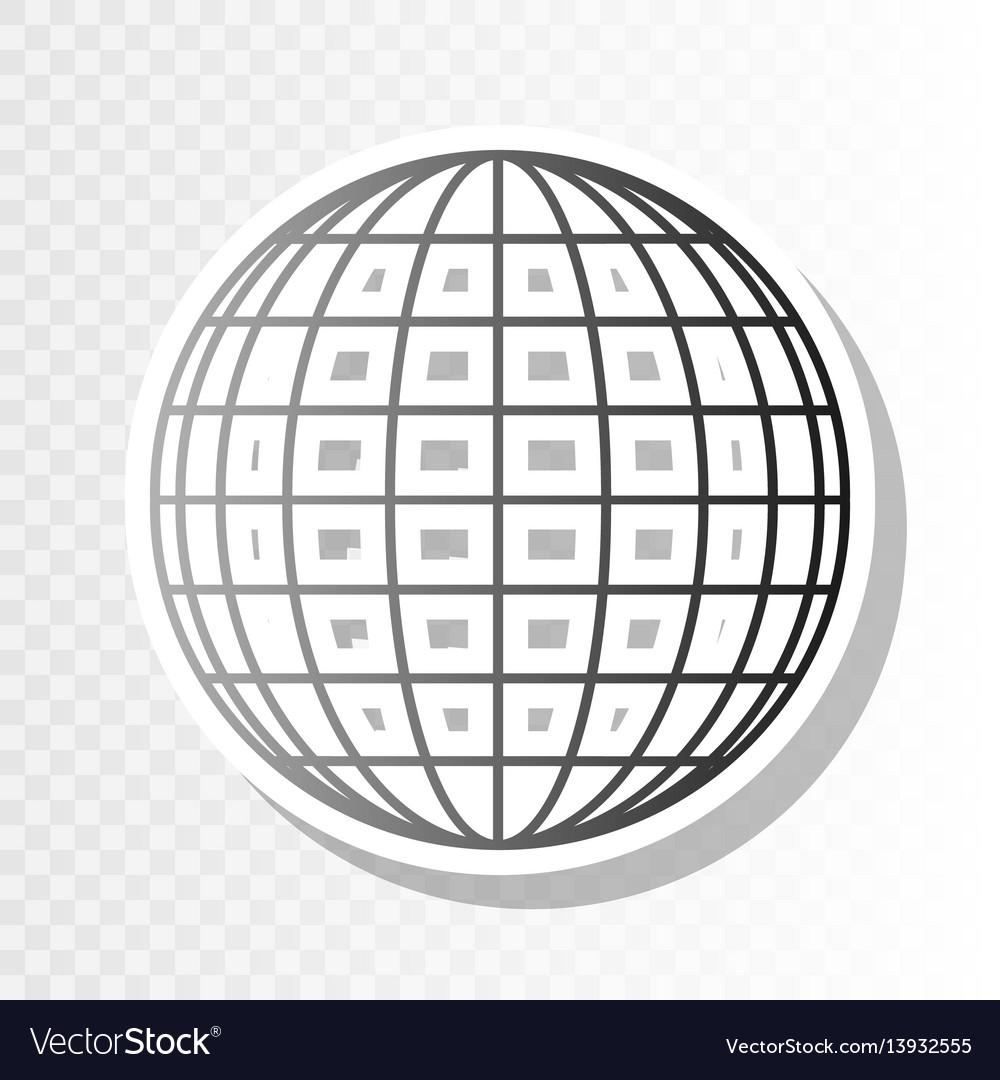 Earth globe sign new year blackish icon