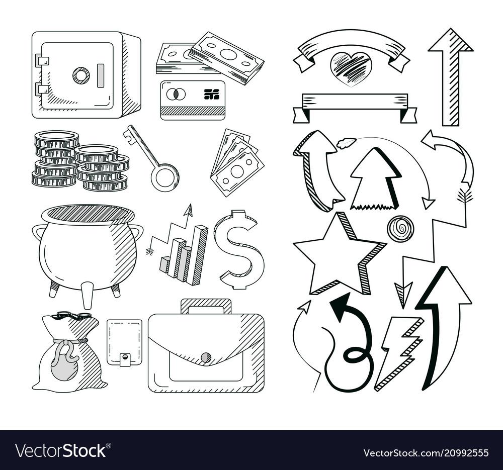 Hand draw business cartoons
