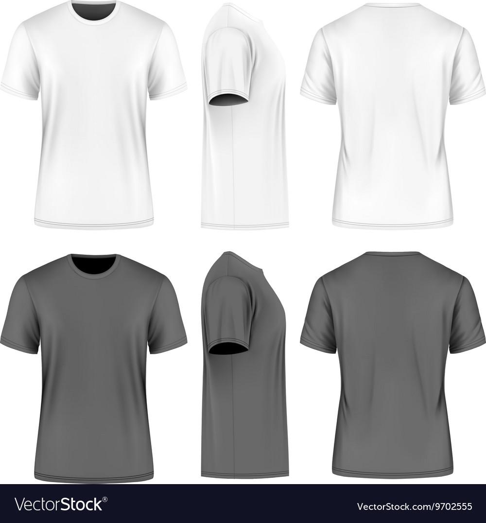28fd64bb237 Men short sleeve round neck t-shirt Royalty Free Vector