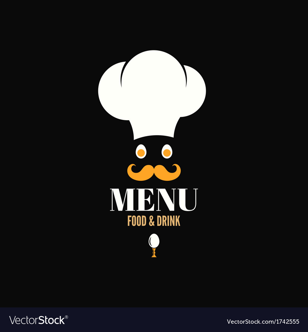 menu chef egg design background royalty free vector image