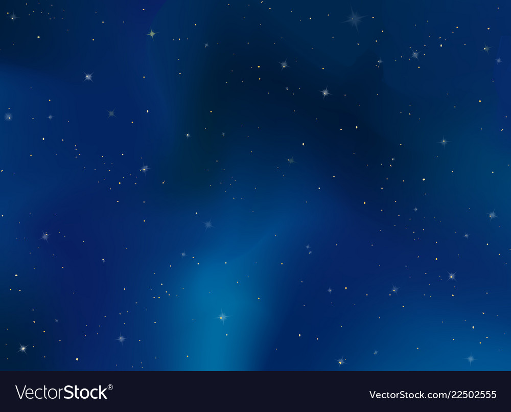 Realistic space celestial evening sky background