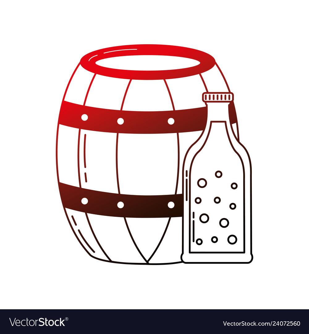 Beer barrel and bottle drink beverage