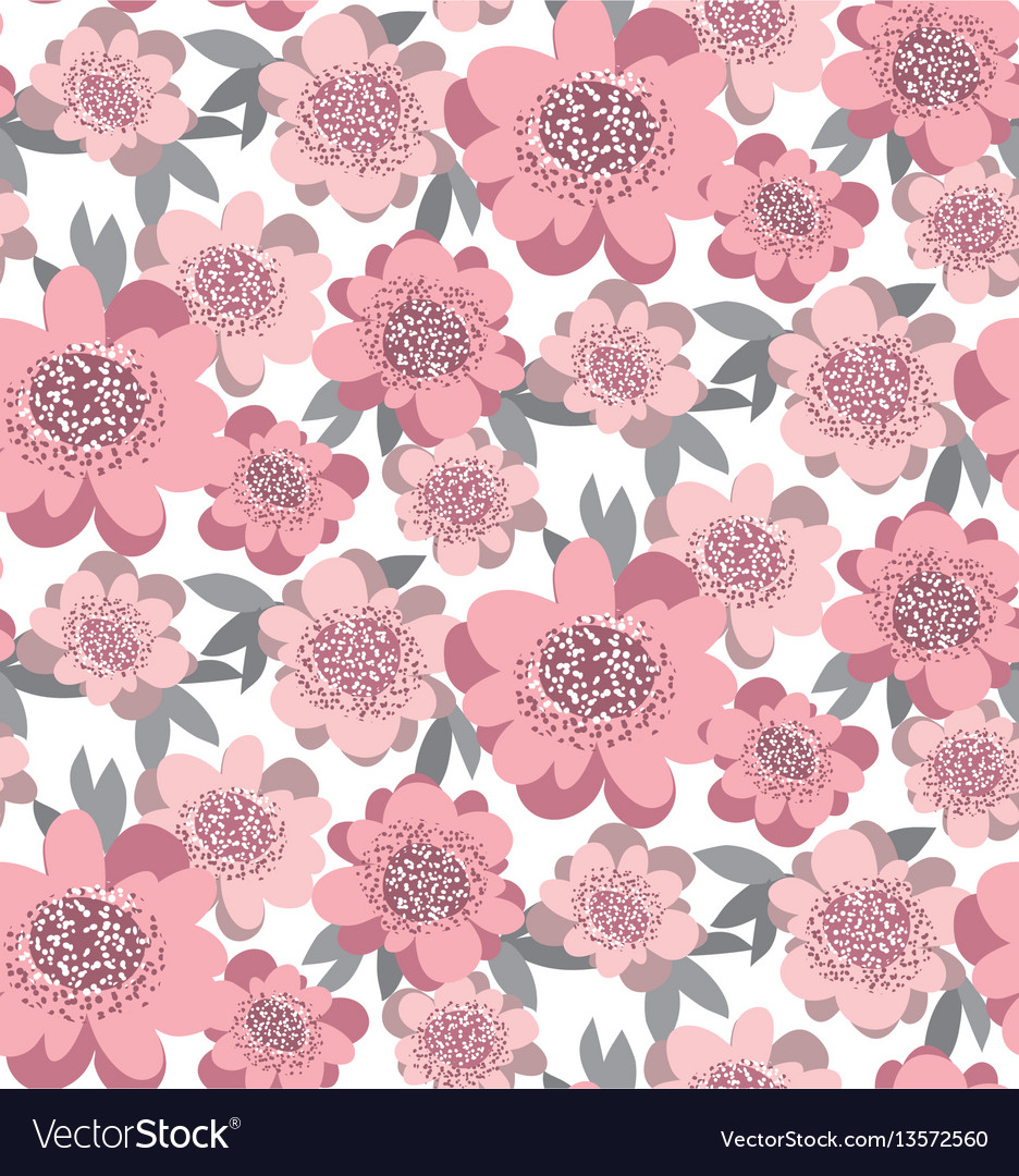 Creative stylized floral seamless pattern abstract