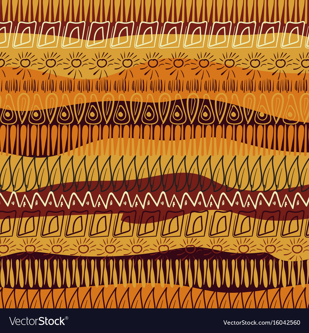 Hand-drawn abstract pattern in african style