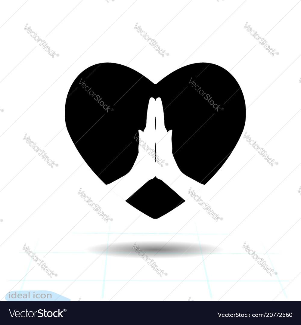 Heart black icon love symbol the
