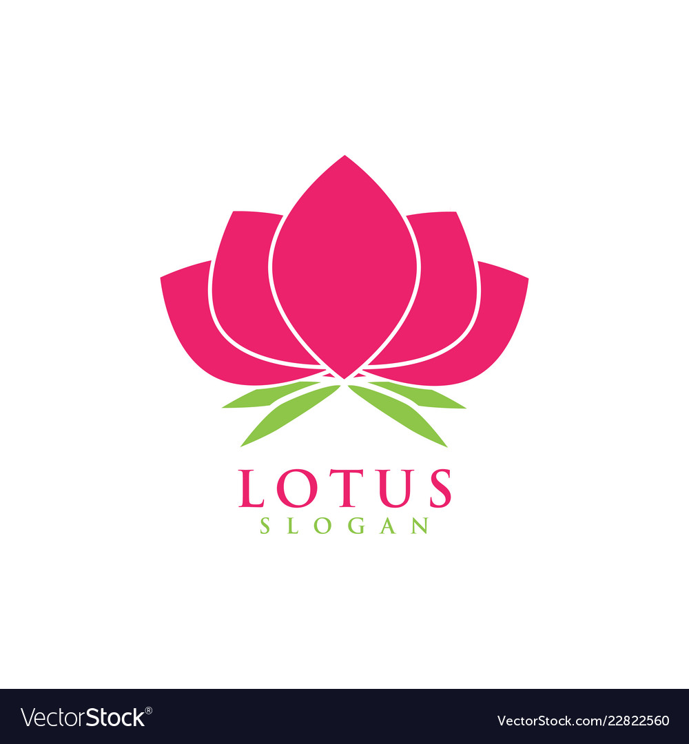 Lotus Flower Graphic Design Template Royalty Free Vector