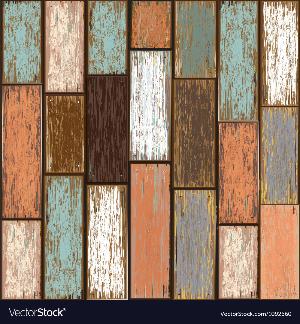 Old paint wood texture seamless background vector image
