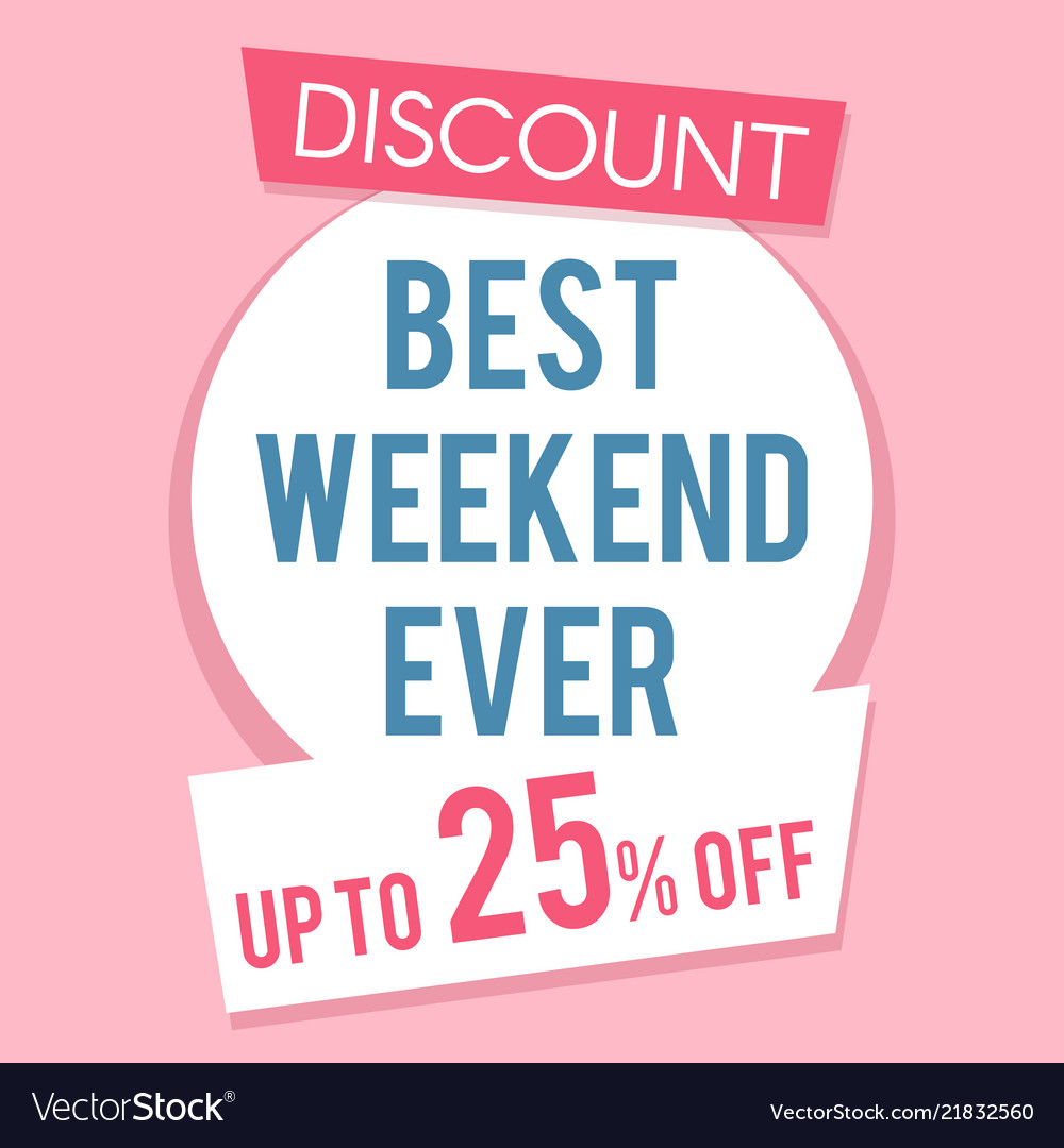 Pink discount sale banner template flat