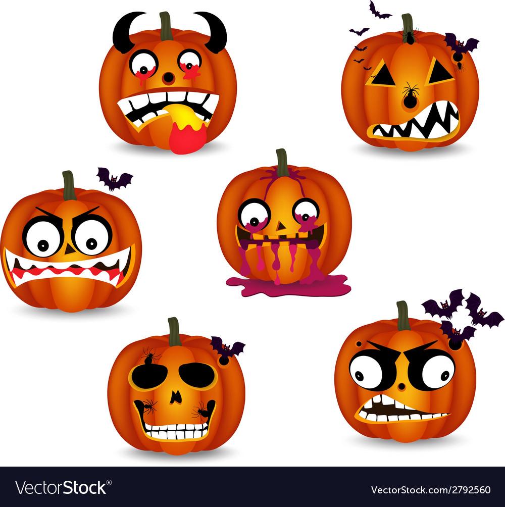 Pumpkins face emotion