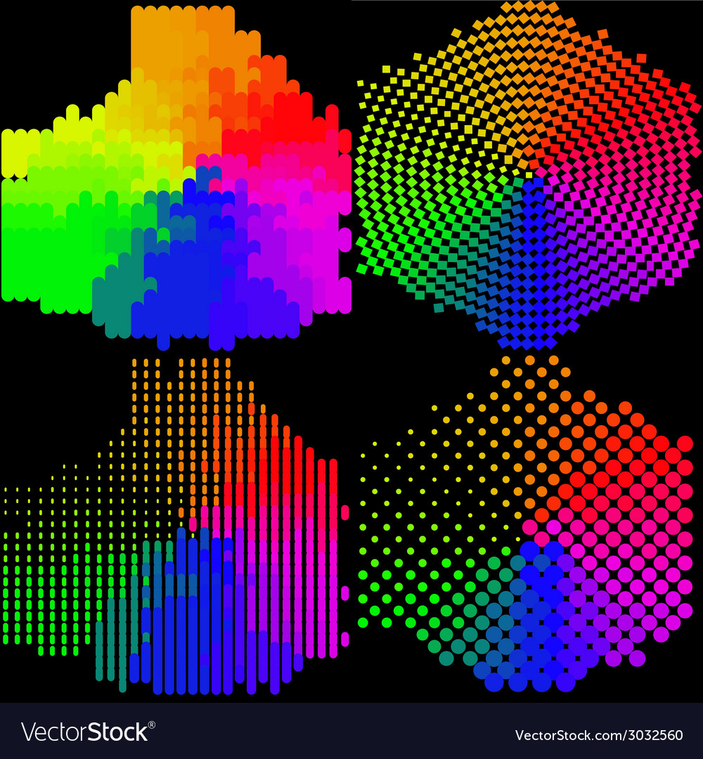Set of Abstract rainbow colorful background