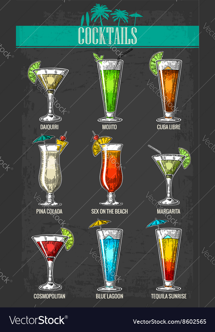 Alcohol cocktail set