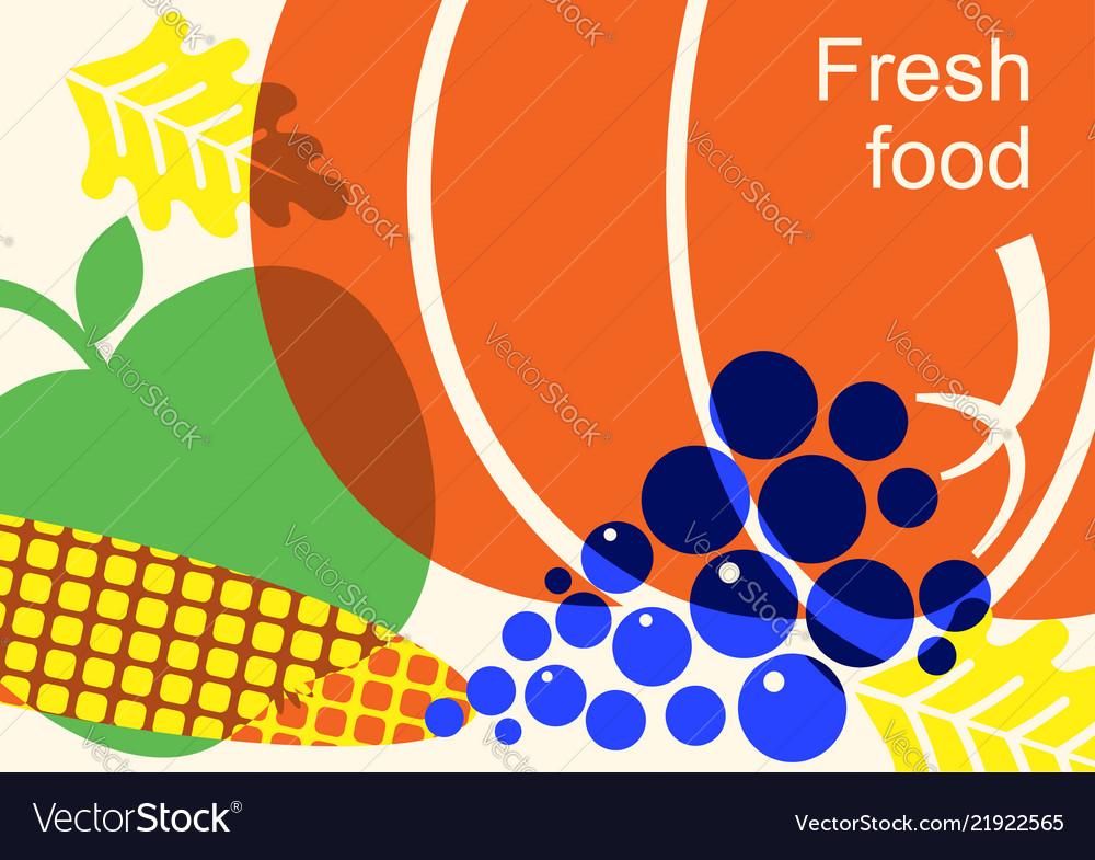 Autumn harvest festival color with vegetables