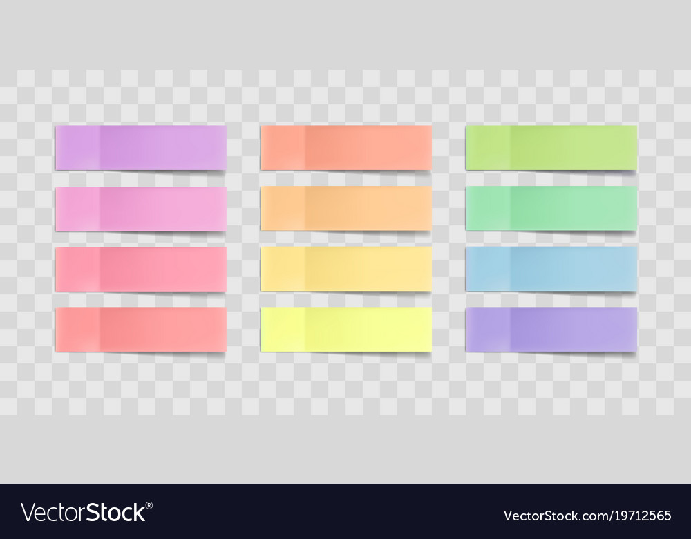 Colorful sticky notes stickers with