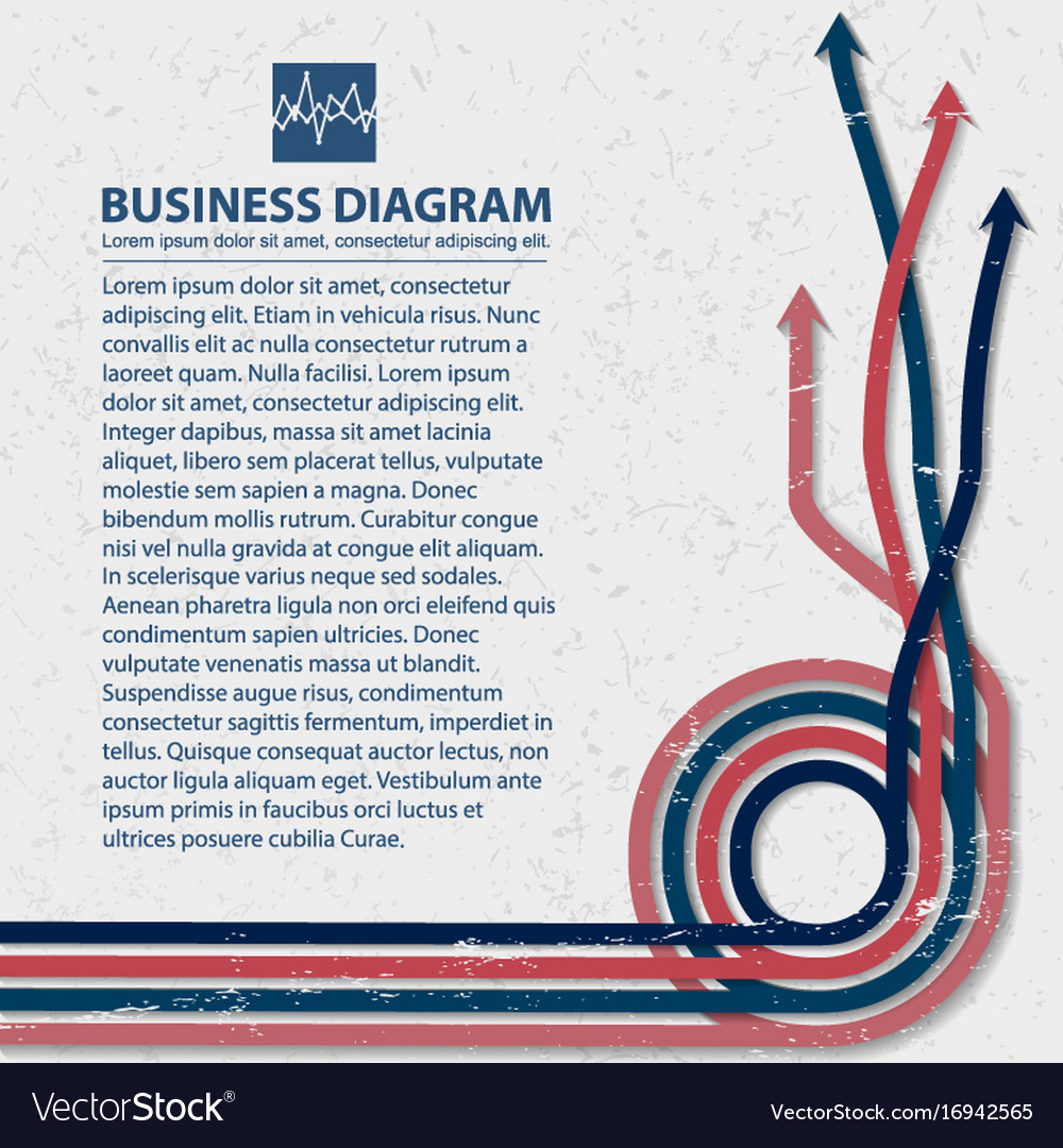 Flat business diagram background