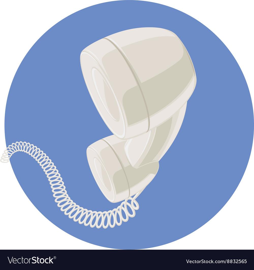 Handset of vintage telephone