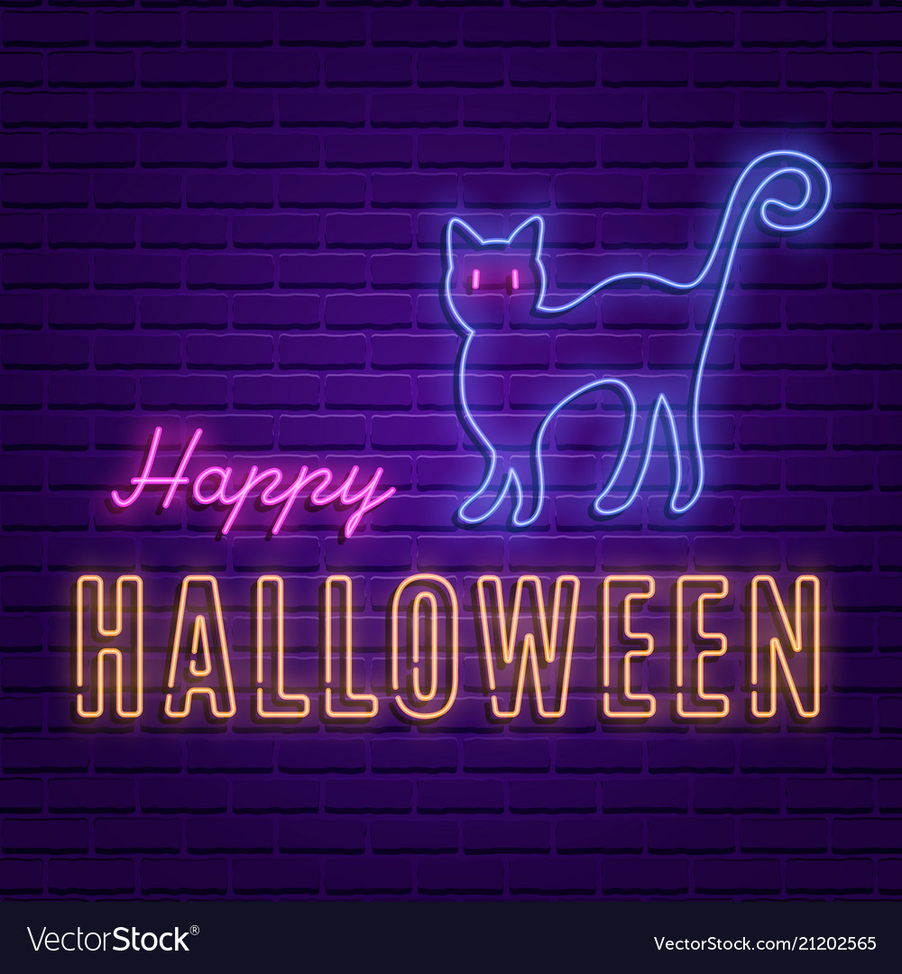 Happy halloween party bright signboard
