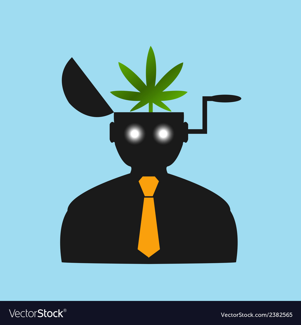 Man thinks about drugs abstract vision vector image
