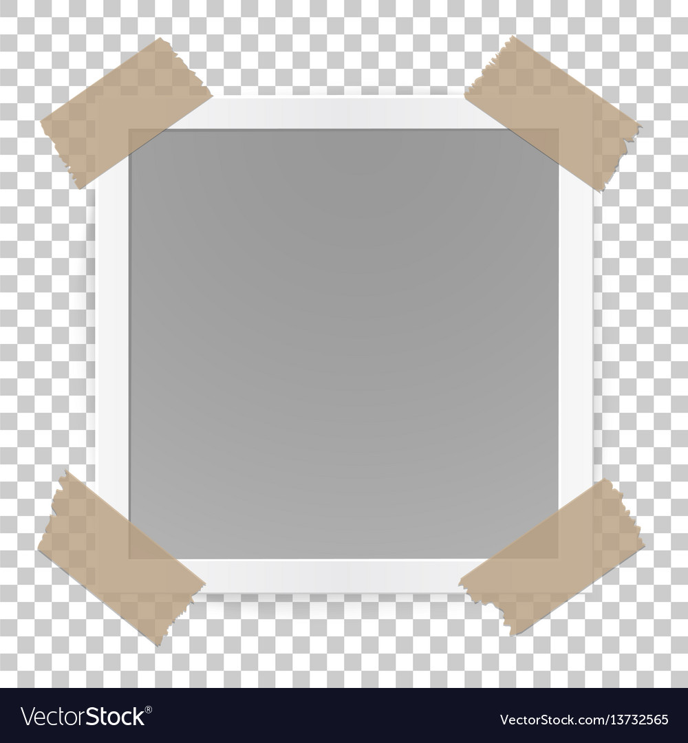 Photo frame concept isolated on transparent vector image