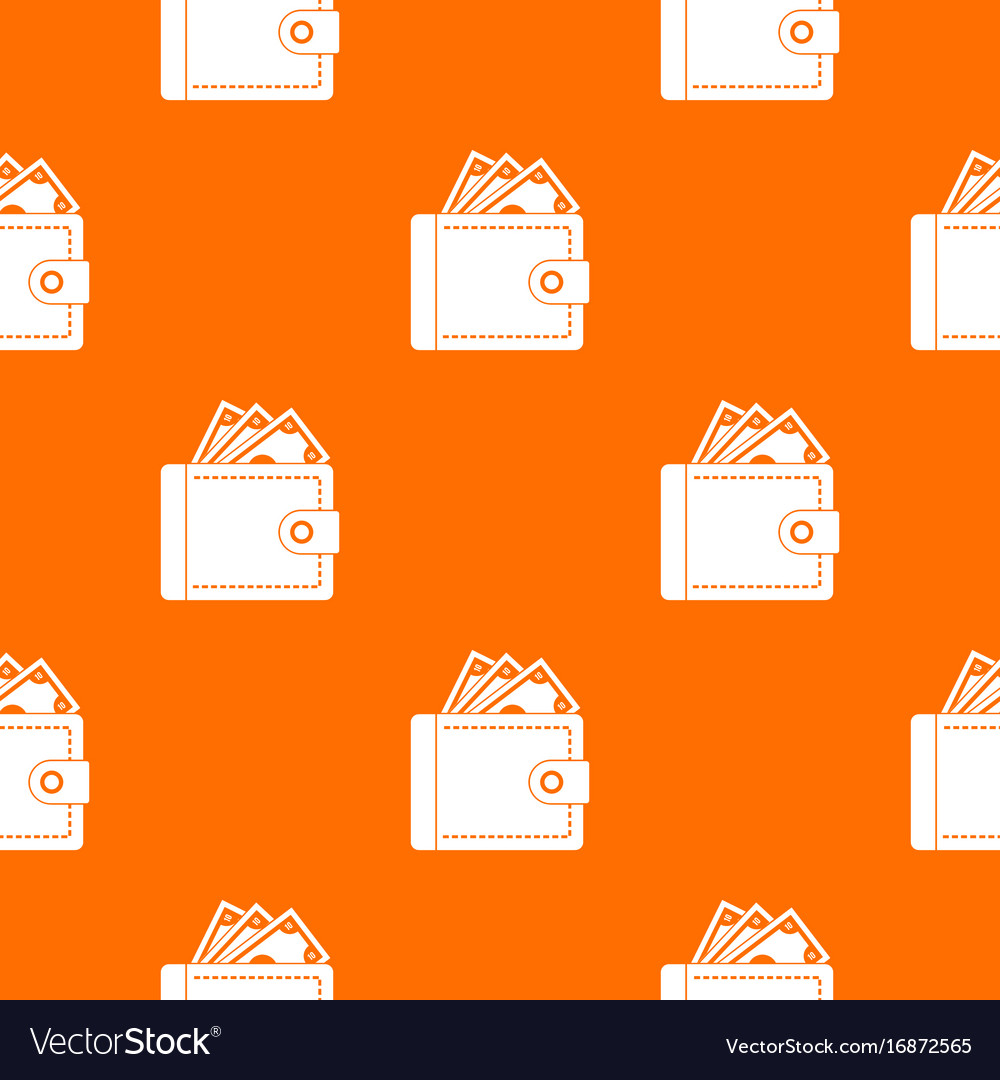 Purse with money pattern seamless