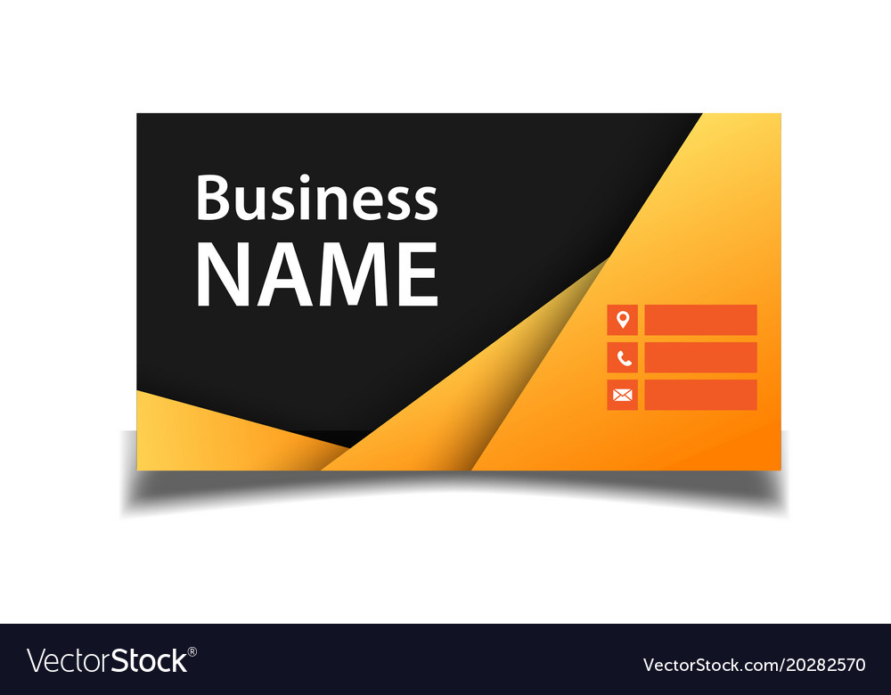 business card orange and black background i vector image - Business Card Background