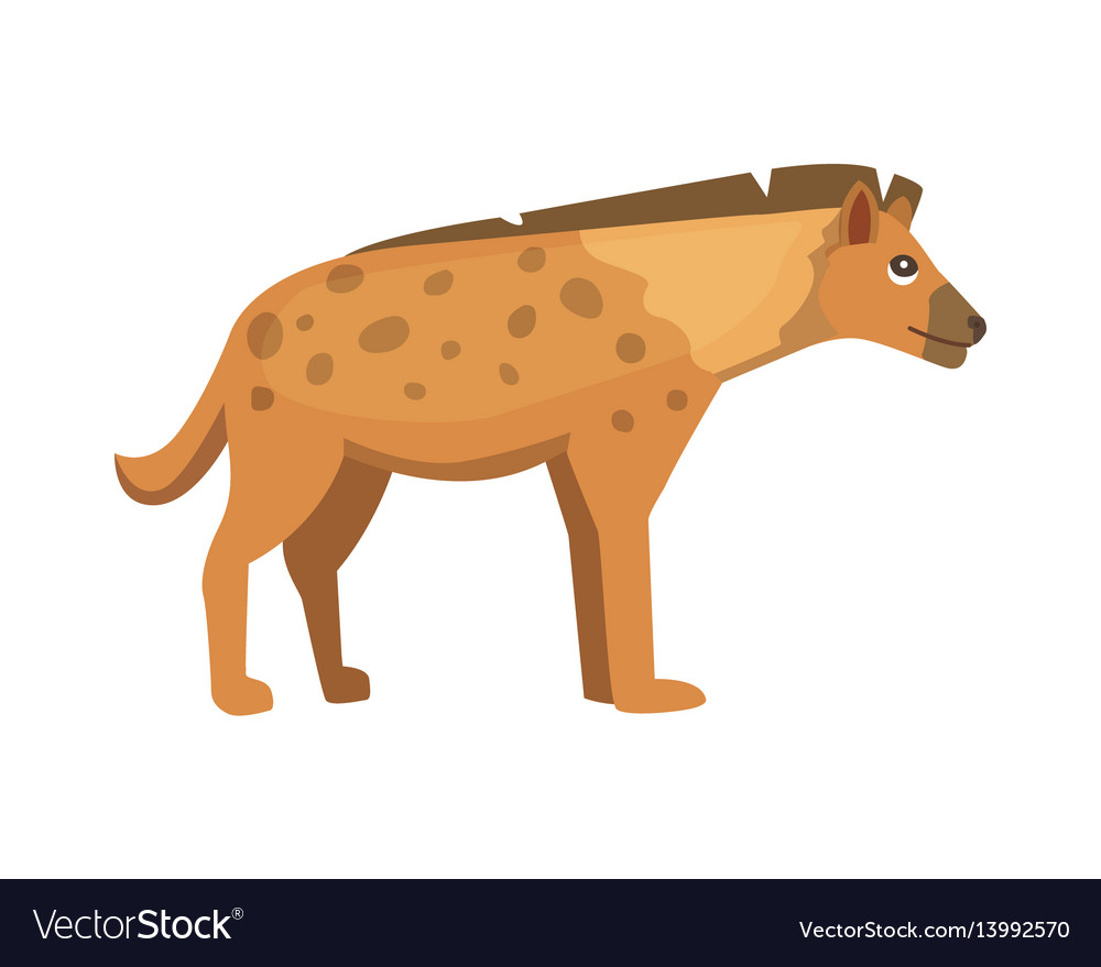 Cartoon funny hyena isolated