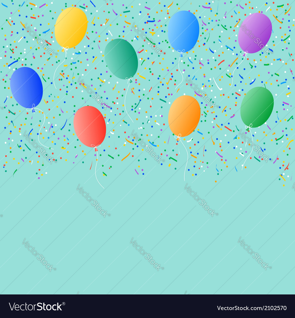 Colored balloons confetti background