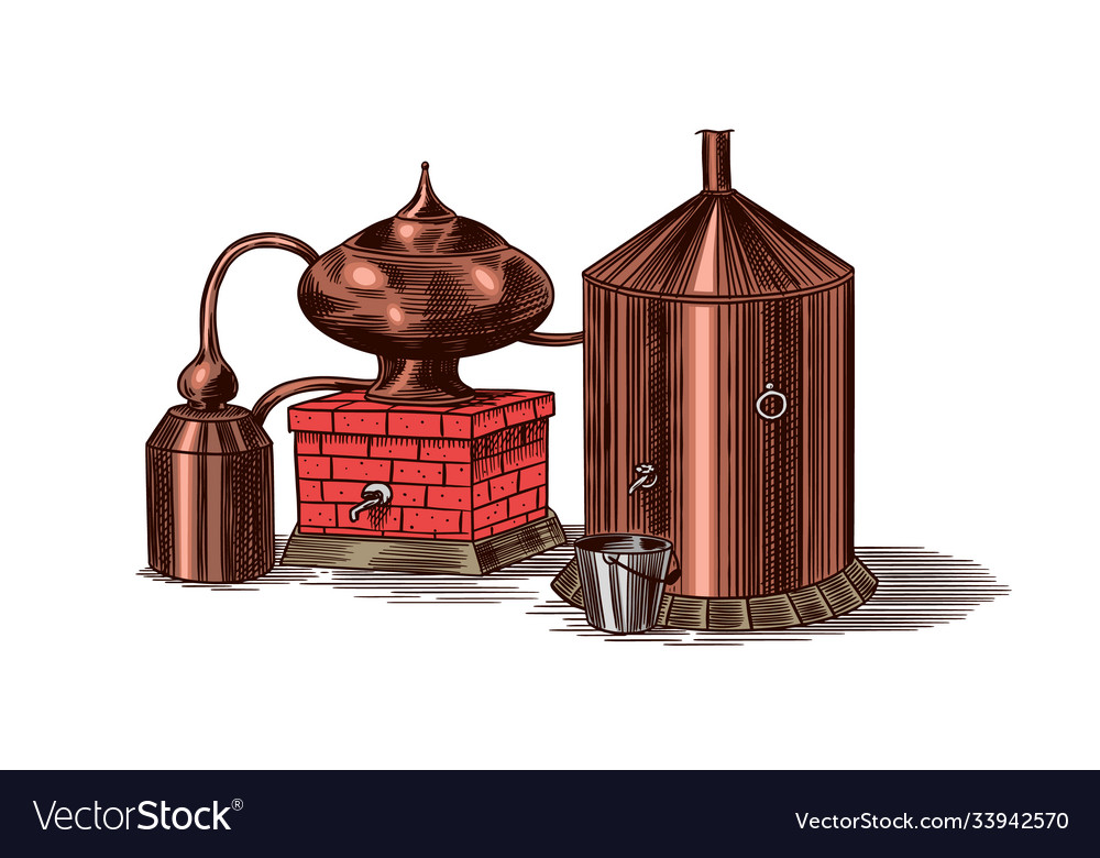 Distilled alcohol device for preparing tequila
