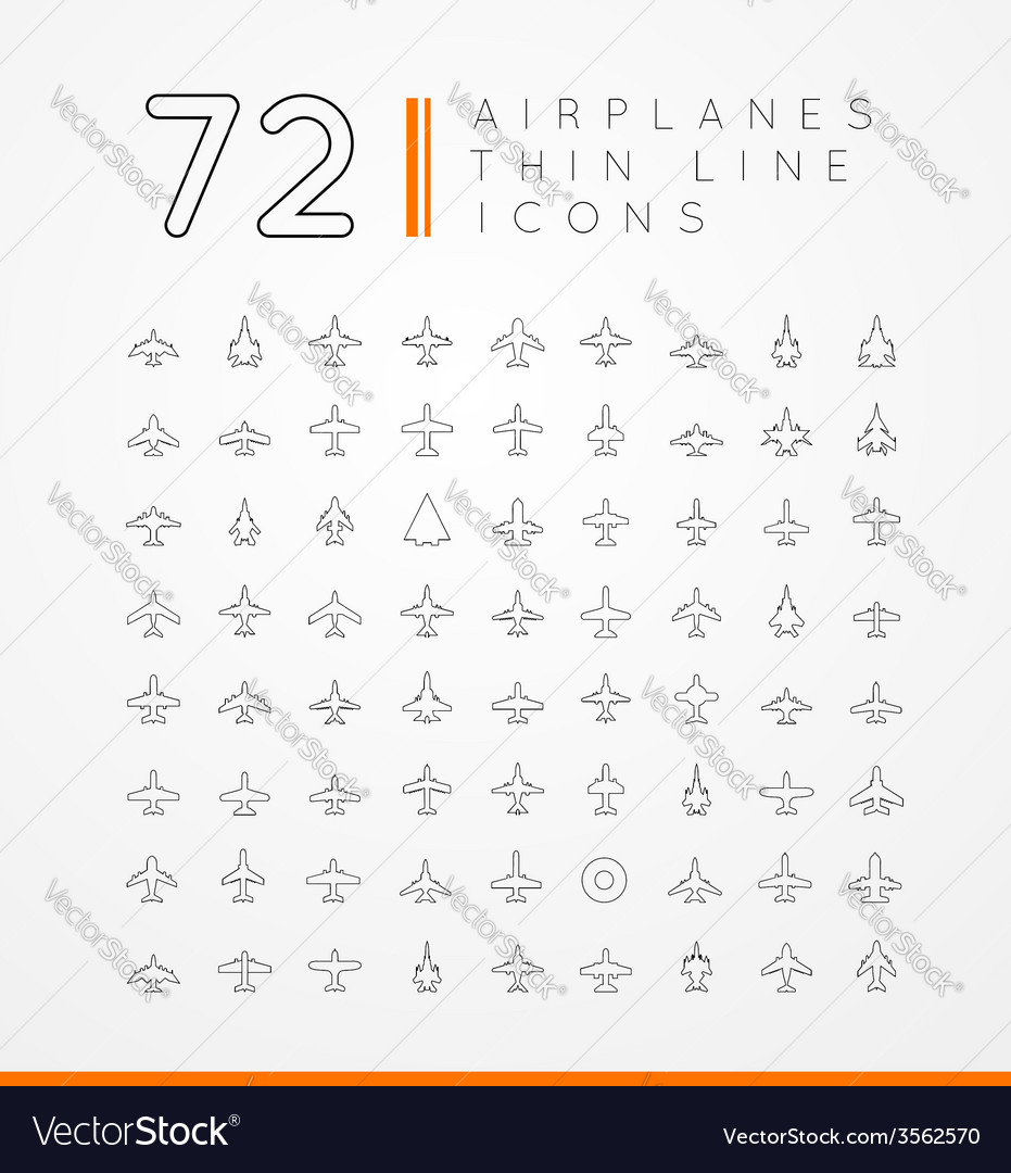 Icons of airplanes