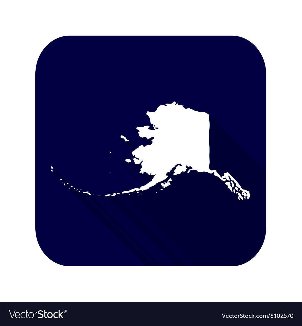 Map of the US state of Alaska