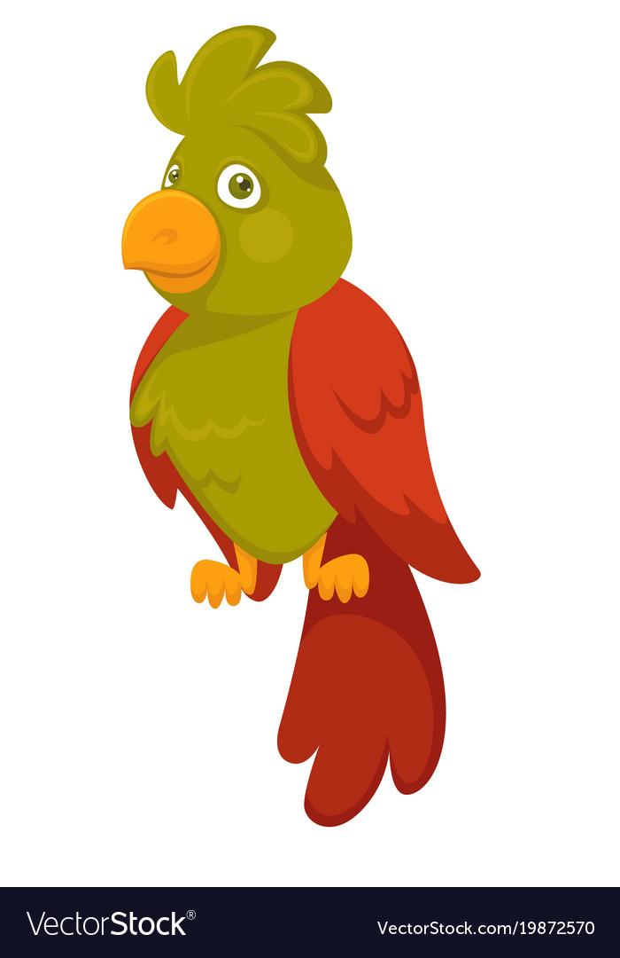 Parrot bird pet cartoon flat icon