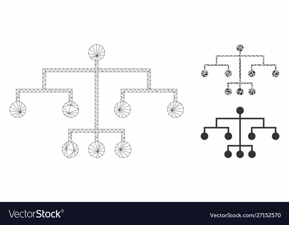Script tree mesh wire frame model and