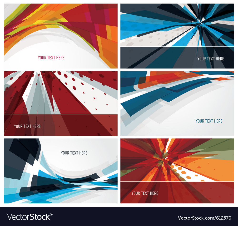 Set of modern colorful business cards Royalty Free Vector