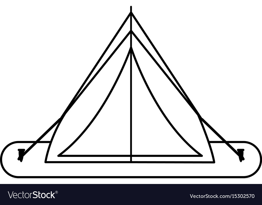 Tent camping related icon image