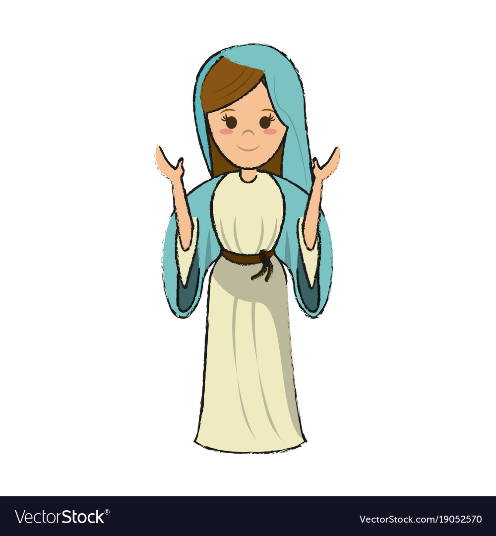 Virgin mary cartoon