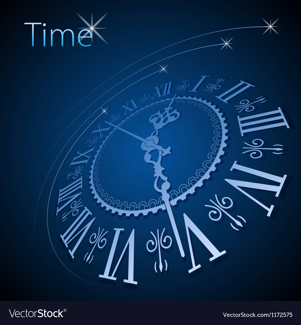 Abstract Clock Background Conceptual Royalty Free Vector