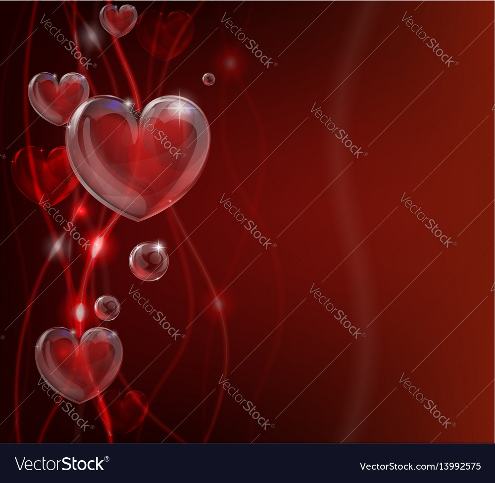 Abstract valentines day heart background