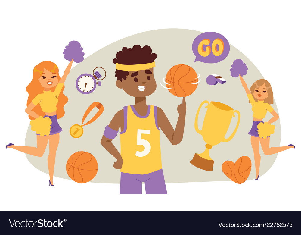 Basketball player bouncing ball in gym